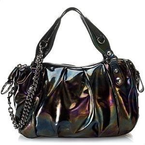 Gucci Oiled Patent Leather Icon Bit Runway Handbag